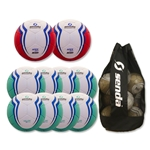 Senda Valor XLS Ball 10 Pack (Turqouise/Red)