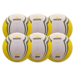 Senda Apex XLS Match Ball 6 Pack (Yellow)
