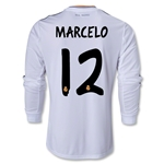 Real Madrid 13/14 MARCELO LS Home Soccer Jersey