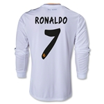 Real Madrid 13/14 RONALDO LS Home Soccer Jersey