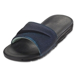 Nike Women's Benassi Solarsoft Slide Sandal (Black/Vapor Green)