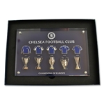 Chelsea UEFA Trophies and Jerseys Pin Collection (Acrylic Collectible)