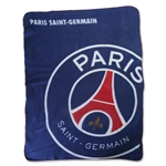 Paris Saint-Germain Logo Fleece Blanket