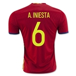 Spain 2016 A. INIESTA Home Soccer Jersey