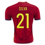Spain 2016 SILVA Home Soccer Jersey