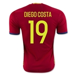 Spain 2016 DIEGO COSTA Authentic Home Soccer Jersey