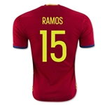 Spain 2016 RAMOS Authentic Home Soccer Jersey