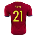 Spain 2015 SILVA Authentic Home Soccer Jersey