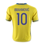 Sweden 2016 IBRAHIMOVIC Youth Home Soccer Jersey