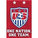 USWNT Crest Poster 2015 One Nation