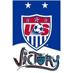 USA WNT Crest Poster 2015 Victory