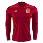 Spain 2016 LS Home Soccer Jersey