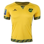 Jamaica 2015 Home Soccer Jersey w/ Gold Cup Patch