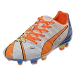 Puma evoPower 3.2 POP FG JR (White/Orange Clown Fish)