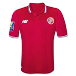 Costa Rica 2015 Home Soccer Jersey w/ Gold Cup Patch