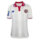 Costa Rica 2015 Away Soccer Jersey w/ Gold Cup Patch