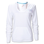 PUMA Women's Long Sleeve Hoody Coverup (White)