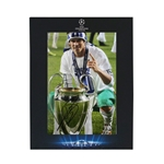Icons Gareth Bale Signed Framed Real Madrid Photo Deluxe UCL Trophy
