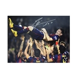Icons Messi Signed Barcelona Photo LFP Top Scorer
