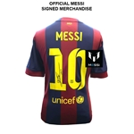 Icons Messi Barcelona Home 14/15 Back Signed Jersey
