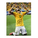 Icons Neymar Jr. Signed Brazil Photo Knees Celebreation