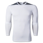 adidas Base TechFit Long Sleeve T-Shirt (White/Gray)
