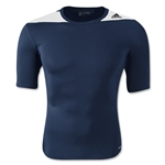 adidas Base TechFit T-Shirt (Navy/White)