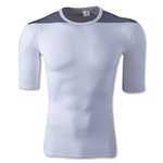 adidas Base TechFit T-Shirt (White/Gray)