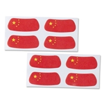 China Flag Eyeblacks 4 Pair