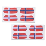 Norway Flag Eyeblacks 4 Pair