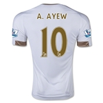 Swansea City 15/16 A. AYEW Home Soccer Jersey