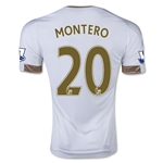 Swansea City 15/16 MONTERO Home Soccer Jersey