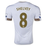 Swansea City 15/16 SHELVEY Home Soccer Jersey
