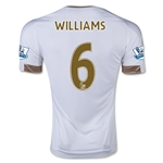 Swansea City 15/16 WILLIAMS Home Soccer Jersey