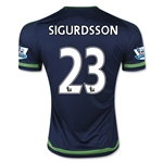 Swansea City 15/16 SIGURDSSON Away Soccer Jersey
