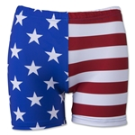 Svforza Women's USA Flag 4 Compression Shorts