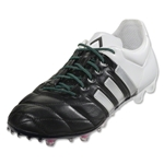 adidas Ace 15.1 FG/AG Leather (Black/Matte Silver)