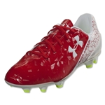 Under Armour SF Flash FG Junior (Risk Red/White/High-Vis Yellow)