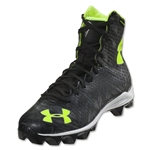 Under Armour LAX Highlight RM Junior Cleat (Black/High-Vis Yellow)