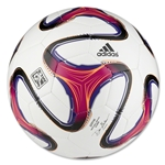 adidas 2014 MLS Glider Ball (White/Glow Orange/Vivid Berry)