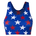 Red, White and Blue Stars Sports Bra