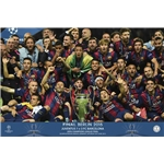 Barcelona 2015 UCL Team Winner Poster