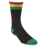Rasta Lacrosse Socks (Black)