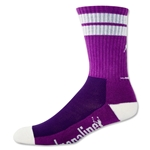 Adrenaline J Train Socks (Pur/Wht)