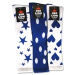 Stars/Dots/Hearts Sock (Royal)
