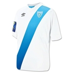 Guatemala 2015 Home Soccer Jersey w/ Gold Cup Patch
