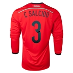 Mexico 2014 C SALCIDO LS Away Soccer Jersey