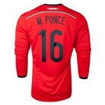 Mexico 2014 M PONCE LS Away Soccer Jersey