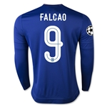 Chelsea 15/16 FALCAO LS UCL Home Soccer Jersey