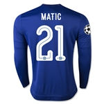 Chelsea 15/16 MATIC LS UCL Home Soccer Jersey